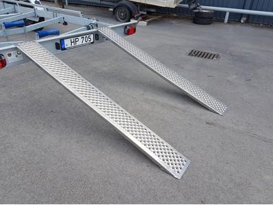 Aliuminių rampų komplektas, 1500 mm, 1000 kg, tiesios