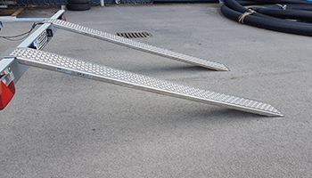Straight ramps for capacity to 1000kg.